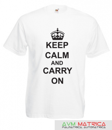 Keep calm and carry on póló
